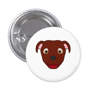 Red Pitbull 3 Cm Round Badge