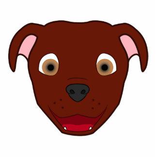 Red Pitbull Photo Sculpture Badge