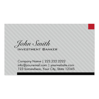 Red Pixel Investment Banker Business Card