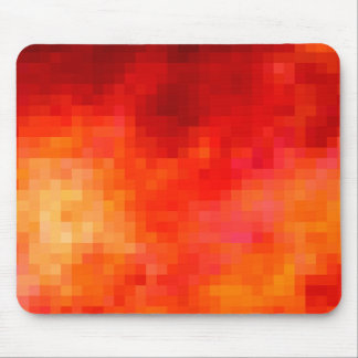 Red Pixelation Mouse Pad