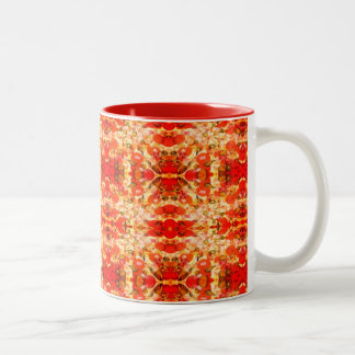 red pizza background Two-Tone coffee mug