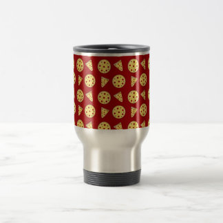 Red pizza pattern 15 oz stainless steel travel mug