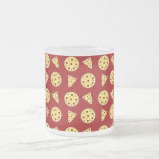 Red pizza pattern coffee mugs
