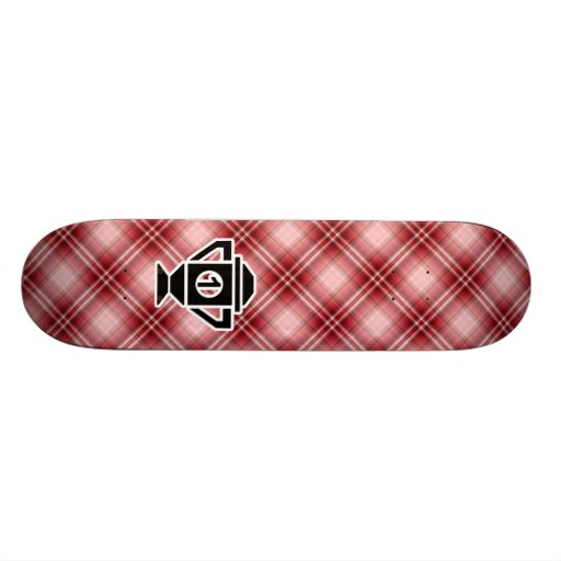 Red Plaid 1st Place Trophy Skateboard Deck