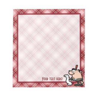 Red Plaid Accountant Notepad