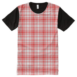 Red Plaid All-Over Print T-Shirt
