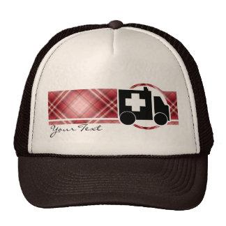 Red Plaid Ambulance Cap