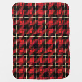 Red Plaid Background Baby Blanket