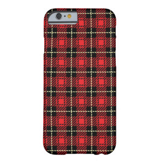 Red Plaid Background Barely There iPhone 6 Case