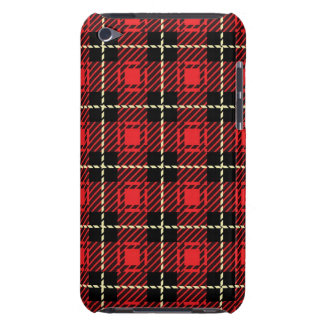 Red Plaid Background Barely There iPod Case