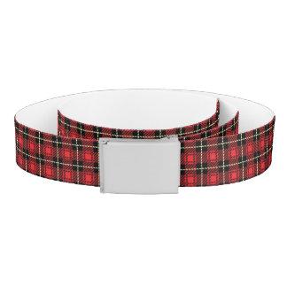 Red Plaid Background Belt