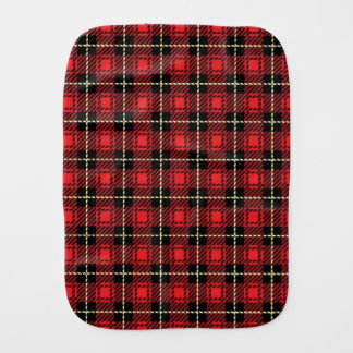 Red Plaid Background Burp Cloth
