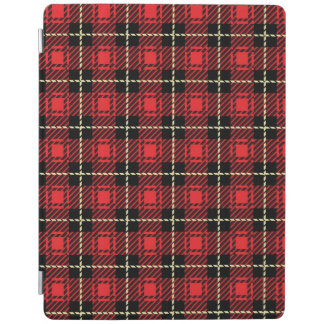 Red Plaid Background iPad Cover