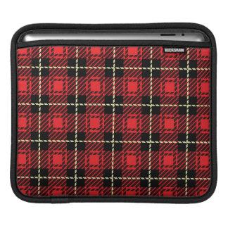 Red Plaid Background iPad Sleeves