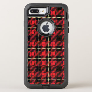 Red Plaid Background OtterBox Defender iPhone 8 Plus/7 Plus Case