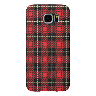 Red Plaid Background Samsung Galaxy S6 Cases