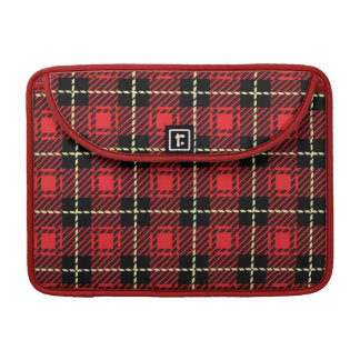 Red Plaid Background Sleeves For MacBook Pro