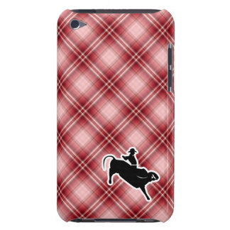 Red Plaid Bull Rider Barely There iPod Cover