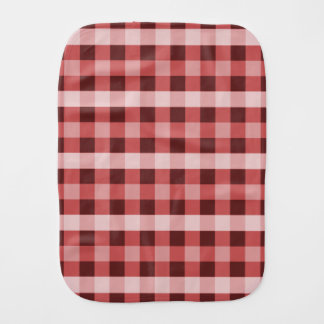 Red Plaid Burp Cloth