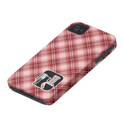 Red Plaid Chemistry iPhone 4 Case-Mate Case
