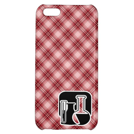 Red Plaid Chemistry iPhone 5C Cover