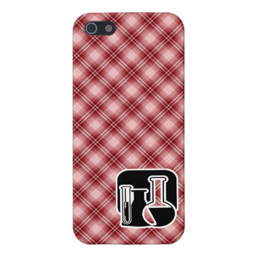 Red Plaid Chemistry iPhone 5 Case