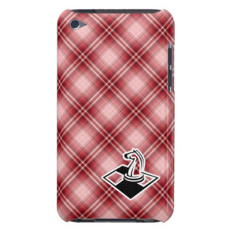 Red Plaid Chess Barely There iPod Cases