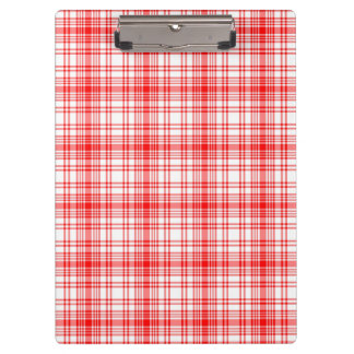 Red Plaid Clipboard