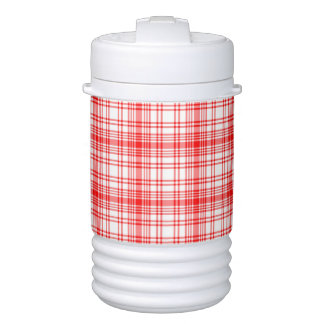 Red Plaid Cooler