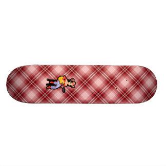Red Plaid Cowgirl with Guitar Skateboard Decks