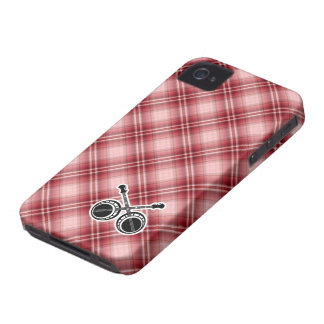 Red Plaid Dueling Banjos iPhone 4 Cover