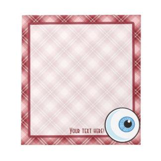 Red Plaid Eyeball Notepad