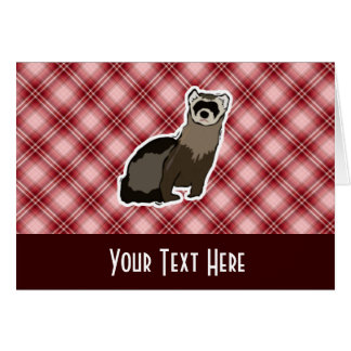 Red Plaid Ferret Card