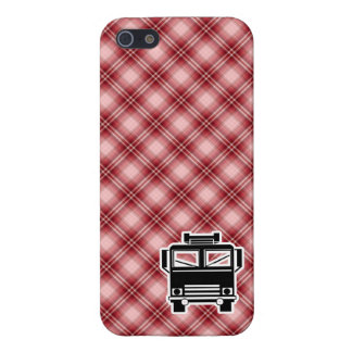 Red Plaid Fire Truck iPhone 5 Case