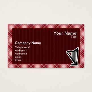 Red Plaid Harp Business Card