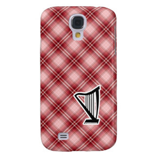 Red Plaid Harp Galaxy S4 Cover