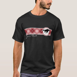 Red Plaid Horse Racing T-Shirt