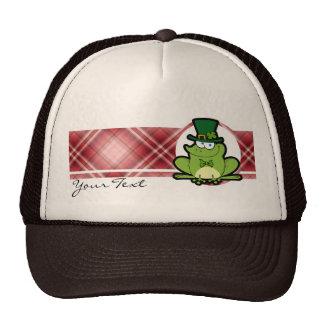 Red Plaid Irish Frog Hats