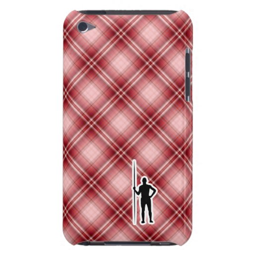 Red Plaid Javelin Throw Barely There iPod Covers
