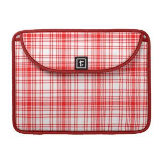 Red Plaid MacBook Pro Sleeves