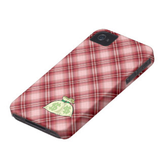 Red Plaid Money Bags iPhone 4 Case