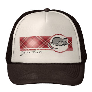 Red Plaid Mouse Hats