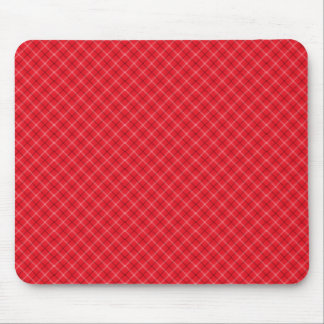 Red Plaid Mouse Pad
