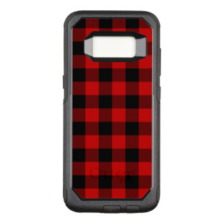 Red Plaid OtterBox Commuter Samsung Galaxy S8 Case