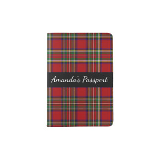 Red Plaid Passport Cover