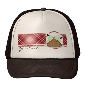 Red Plaid Poop Cap