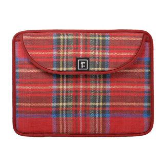 Red Plaid Print Sleeves For MacBook Pro