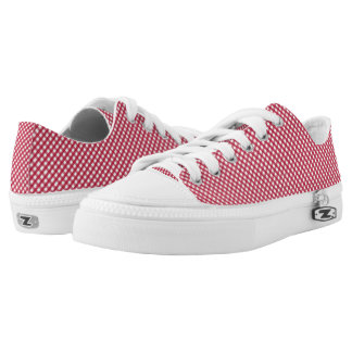 Red Plaid Printed Shoes