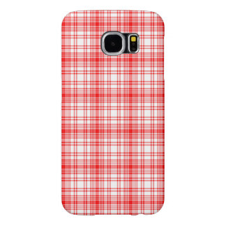 Red Plaid Samsung Galaxy S6 Cases