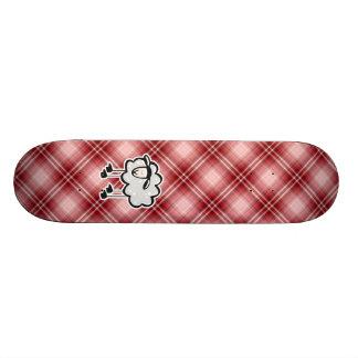 Red Plaid Sheep Skateboards